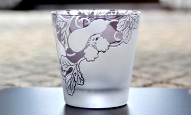 A25-16 香蘭社 ひさご(紫)・タンブラー