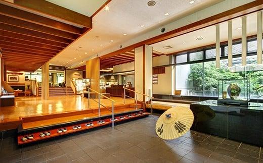〔L-3〕那須温泉山楽1泊2食付ペア宿泊券「露天風呂付客室」