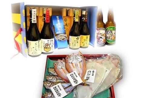 C-9 鬼太郎焼酎・ビールとぜいたく干物セット(6~8月は配送不可)