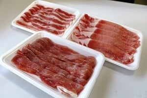 112茨城県産豚「美明豚」食べ比べセット900g(ロース・もも・バラ各300g)