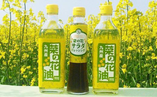 10-44 菜の花サラダ油(2本)と菜の花サラダドレッシング(1本)