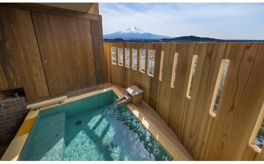 【富士山の見える温泉旅館】ホテル鐘山苑ペア宿泊券 露天風呂付客室「燦里」