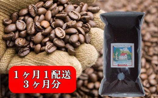 【010-079】まめーる定期便 珈琲豆200g×1パックの3回配送(合計600g)