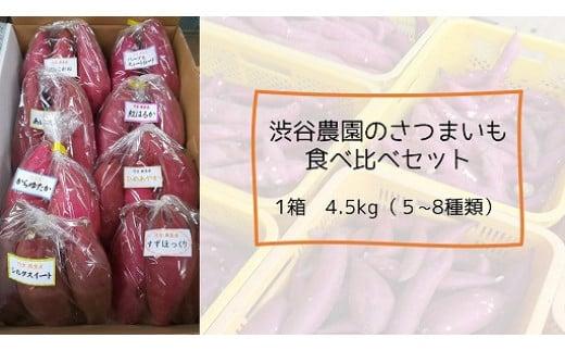 いろんなさつまいも食べ比べセット 4.5kg(5~8品種)
