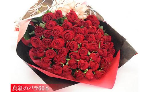 AD-13 真紅のバラ60本【きらびやかな花束】