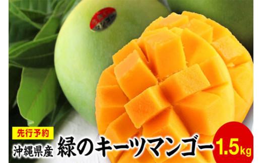緑のキーツマンゴー(1.5㎏)【先行予約】【2021年8月下旬~9月頃発送】