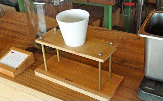 木製+真鍮のコーヒードリップスタンド[№5651-0832]