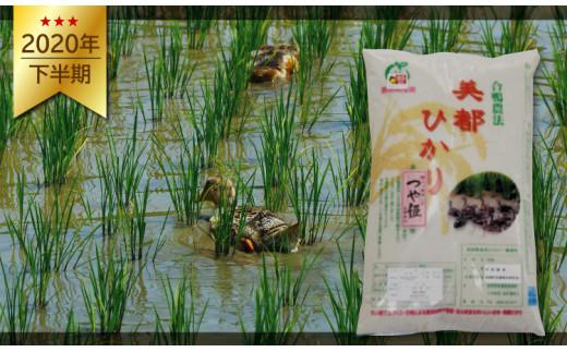 A-46 5つ星お米マイスター推薦 合鴨農法米 美都ひかり玄米5kg