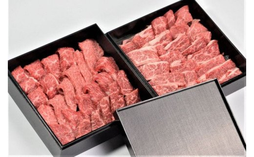 【新型コロナ対策】支援21-14 鳥取和牛専門店 特撰部位の焼肉盛り合わせ 二段重 H-204