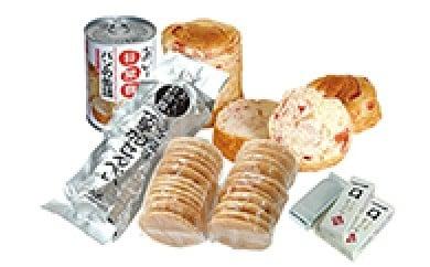 災害時の備蓄品に こだわり草加煎餅と非常食2箱セット