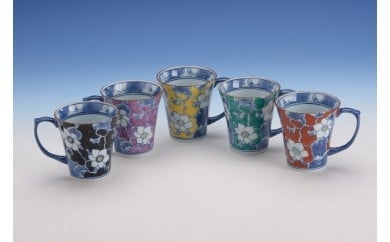 彩唐花マグカップ(1個) H016
