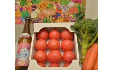 岩倉の味満喫セットA【夢吟香いわくら1本・水耕栽培トマト・季節の野菜】