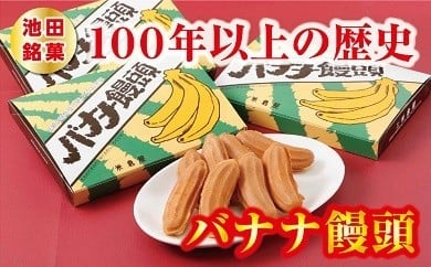 P036-1 「池田銘菓」バナナ饅頭