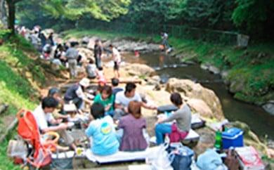 [№5862-0265]自然を満喫!渓流釣りと手ぶらでBBQセット