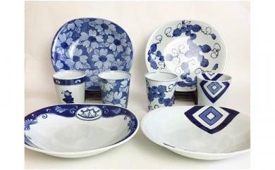 A130-1 有田焼 青花 使い方多種多様のカレー皿とカップ ギャラリーフジヤマ