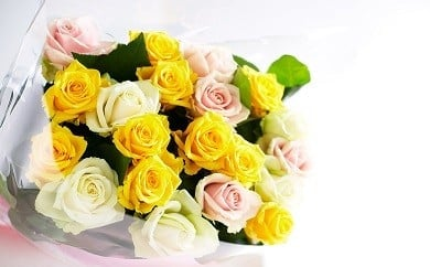 G05【年4回お届け】生産者直送!バラの花束(おまかせMIX25本)