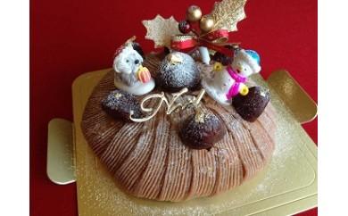 ②【卵・乳製品・小麦不使用!】LE PAYSANのクリスマスケーキ(モンブラン)