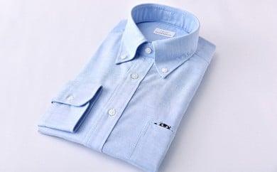 くまモン 紳士用 ブルー HITOYOSHIシャツ