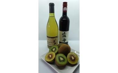2107 山梨市特産ワイン赤・白2本と『フルーツファーム豊国園』の旬の季節のフルーツセット