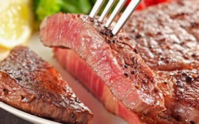 [№5680-0283]遠州夢咲牛ロース肉ステーキ用3枚セット