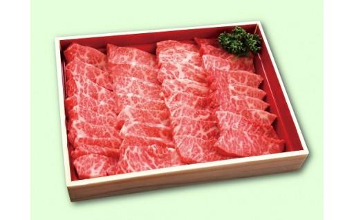 秋田県能代産 鶴形牛バラカルビ焼肉用 約500g