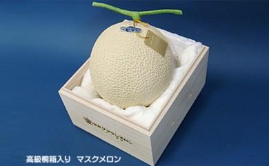 [№5790-0294]クラウンメロン(富士級)1玉 桐箱入り