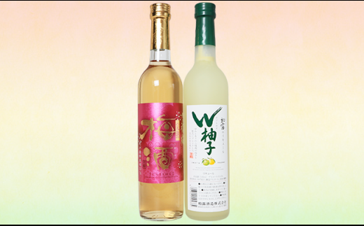 C1-12長岡リキュールセット柚子&梅酒(500ml×2本)