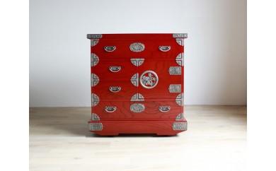 伝統工芸品【吉野民芸30車片開きタンス】からくり付き