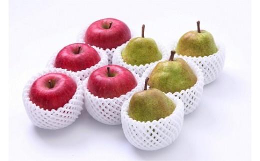 FY18-386 【ご自宅用】りんご・ラ・フランスの詰め合わせセット 約5kg