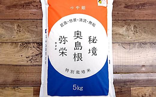 735.弥栄町産特別栽培米「秘境奥島根弥栄」つや姫5kg(6回コース)