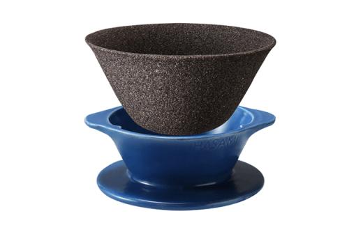 LC03 【波佐見焼】ハサミフィルター2(ブルー)高級コーヒーセット 【マックリカフェ】-2