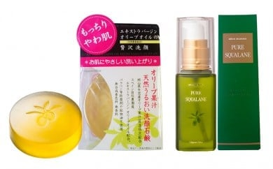 [№5735-0338]オリーブマノンピュアスクワラン&洗顔せっけんセット