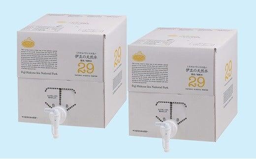 005-024 バッグインボックス入(コック付)!プレミアム伊豆の天然水29(10L×2箱)
