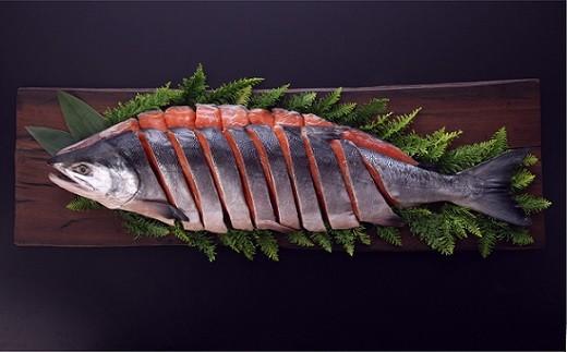 ブランド銀毛鮭「銀聖」 新巻鮭切身 1尾4kg前後[01-180]