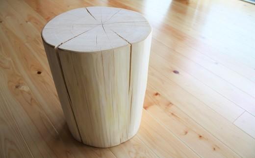 [無印奈良品の家具]ヒノキの丸太イス