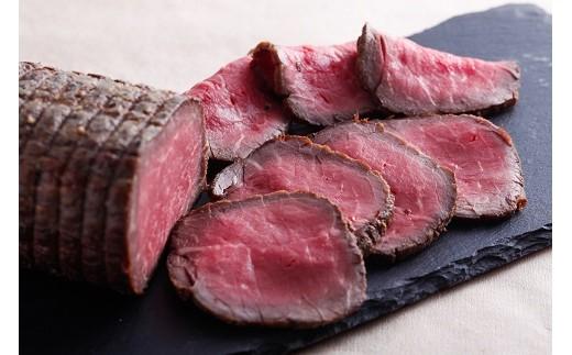 熟成黒毛和牛モモ肉ローストビーフ(500g)