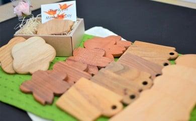 [№4631-1314]木製コースター(5枚組)