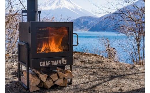 CRAFTMAN C3(持ち運べる小型薪ストーブ)&耐熱黒塗装ステンレス製煙突部材8点セット