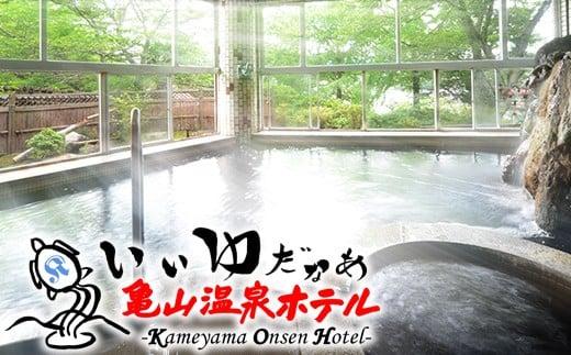 亀山温泉ホテル 日帰り入浴券(6回)