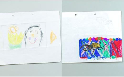 お子さまが描いた絵がマスキングテープに!