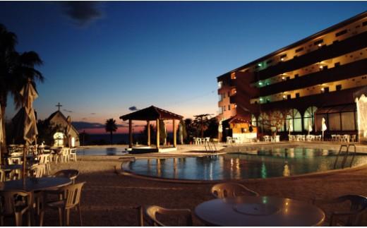 リゾートホテル海辺の果樹園 1泊2食付 ペア利用(平日)ビップルーム宿泊券 T-17