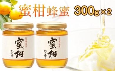 <国産>みかん蜂蜜【300g×2個】福岡県八女市で収獲した完熟みかん蜂蜜