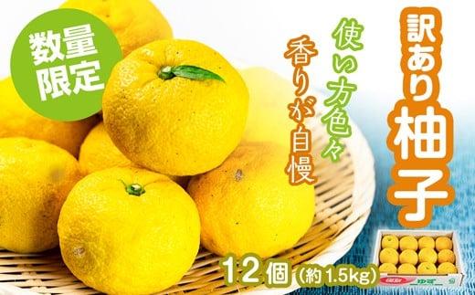 [№5852-0443]訳あり柚子(約1.5kg)※2021年11月下旬頃から発送 ※クレジット決済のみ
