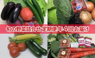 [№5850-0367]旬の野菜詰合せ(年間4回定期便)