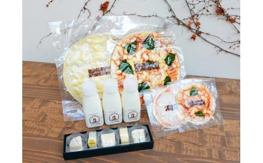 アトリエ・ド・フロマージュ チーズ・ピザ・飲むヨーグルトセット