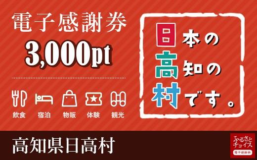 日高村 電子感謝券 3,000ポイント