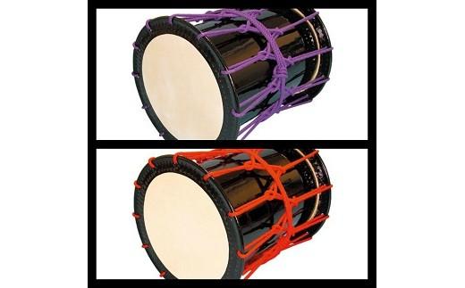 桶胴太鼓1.6尺(紫紐)(赤紐)【諏訪工芸】