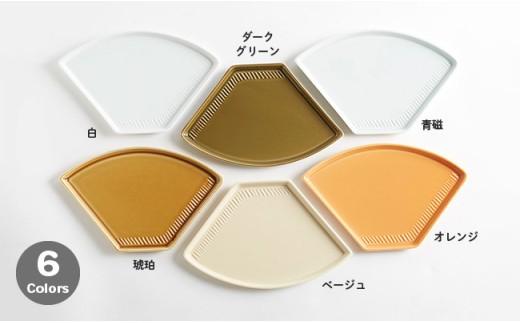 ZB05 【波佐見焼】カフェプレート 6色×2枚 12枚セット【重山陶器】-5