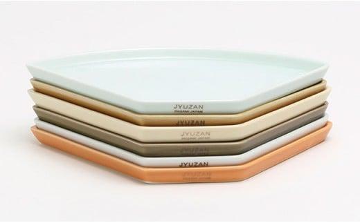 ZB05 【波佐見焼】カフェプレート 6色×2枚 12枚セット【重山陶器】-6