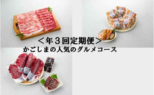 <指宿×高島屋コラボ企画>かごしまの人気のグルメコース(年3回定期便)